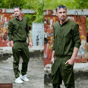 Приобрести в подарок мужской комбинезон летний с длинным рукавом цвета хаки размеров больших оптом Украина