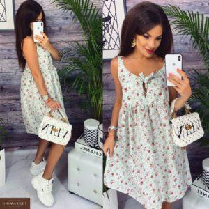 Приобрести в интернет-магазине женское платье цветы нежные белого цвета размеров больших дешево