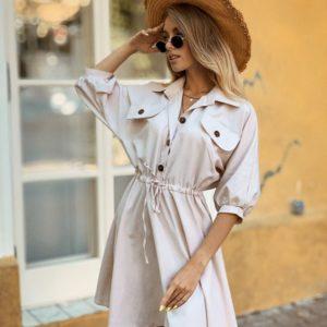 Приобрести дешево женское рубашка - платье из хлопка турецкого цвета белого оптом Украина