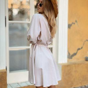 Заказать недорого женское платье - рубашка из турецкого хлопка белого цвета в подарок