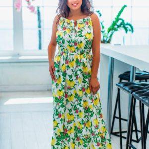 Заказать в подарок женский сарафан с модным рисунком больших размеров оптом Украина