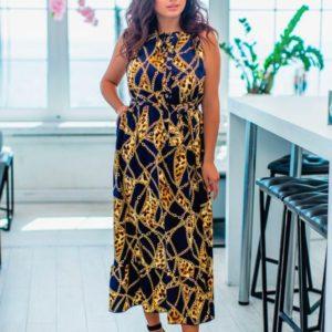Приобрести в интернет-магазине женский сарафан с рисунком модным размеров больших дешево