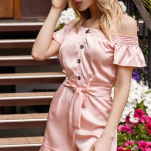 Купить в интернет-магазине женский комбинезон с шортами из шёлка armani цвета пудры недорого