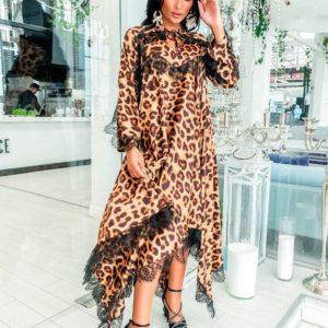 Заказать недорого платье женское из софта + кружево низ ассиметрия размеров больших дешево