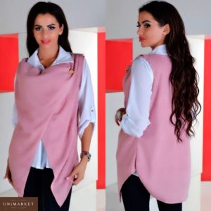 Заказать в интернет-магазине женский комплект блуза из креп шифона кофта из ангоры цвет розовый батал дешево