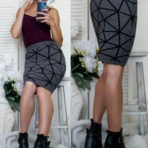 Заказать в интернет-магазине женскую юбку миди из шерсти пояс на резинке дешево