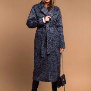 Приобрести в интернет-магазине женское пальто длинное на подкладке дорогой с посадкой отличной цвета серого дешево