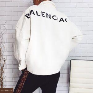 Приобрести в интернет-магазине женскую куртку джинсовую оверсайз Баленсиага цвета белого дешево