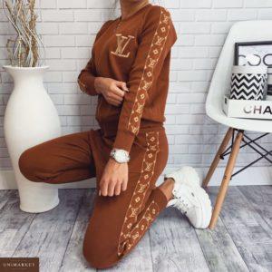 Заказать женский универсальный прогулочный костюм louis vuitton цвета коричневого недорого