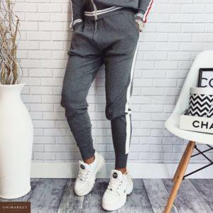 Приобрести в интернет-магазине женский костюм прогулочный спортивный converse серого цвета дешево