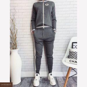 Заказать в подарок женский серый прогулочный спортивный костюм converse оптом Украина