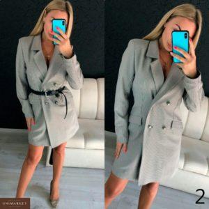 Приобрести в интернет-магазине женский кардиган с поясом - пиджак - платье дешево