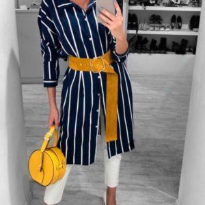 Заказать в подарок женское платье из супер софта - рубашка в полоску цвета черного + белая полоска оптом Украина