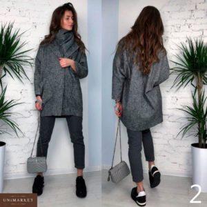 Приобрести в интернет-магазине женское пальто на пуговице из твида дешево