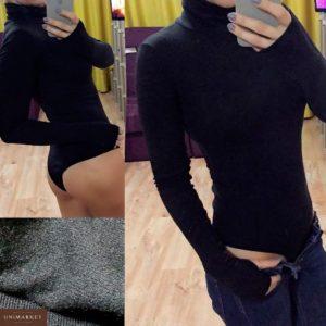 Приобрести в интернет-магазине женский на кнопках боди с застежкой цвета черного дешево