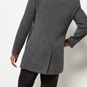 Приобрести в подарок мужское классическое пальто с силуэтом строгим цвета серого оптом Украина