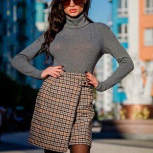 Приобрести в интернет-магазине женскую юбку короткую с пуговицами на застежке дешево