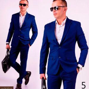 Заказать оптом мужской костюм с шерстью деловой классический батал недорого