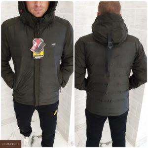 Заказать недорого мужскую куртку защиищенную с ветро и водо верхней тканью графитового цвета батал в подарок