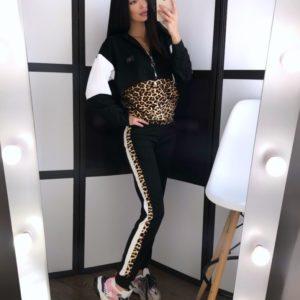 Заказать в подарок женский спортивный костюм с леопардовым принтом оптом Украина