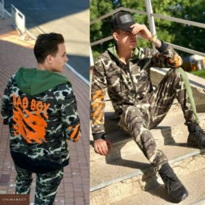 Приобрести в подарок мужской защитный спортивный костюм Bad Boy оранжевого цвета больших размеров оптом Украина