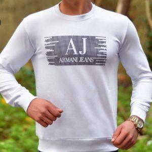 Купить в интернет-магазине мужской Armani джемпер Jeans белого цвета размеров больших дешево