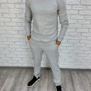 Заказать недорого мужской спортивный костюм из турецкой трехнитки цвета меланж батал в подарок