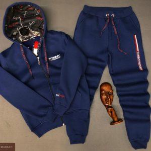 Приобрести в подарок мужской со шнуровкой костюм Tommy Hilfiger синего цвета больших размеров оптом Украина