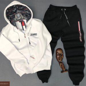 Заказать недорого мужской костюм Tommy Hilfiger со шнуровкой черно-белого цвета батал в подарок