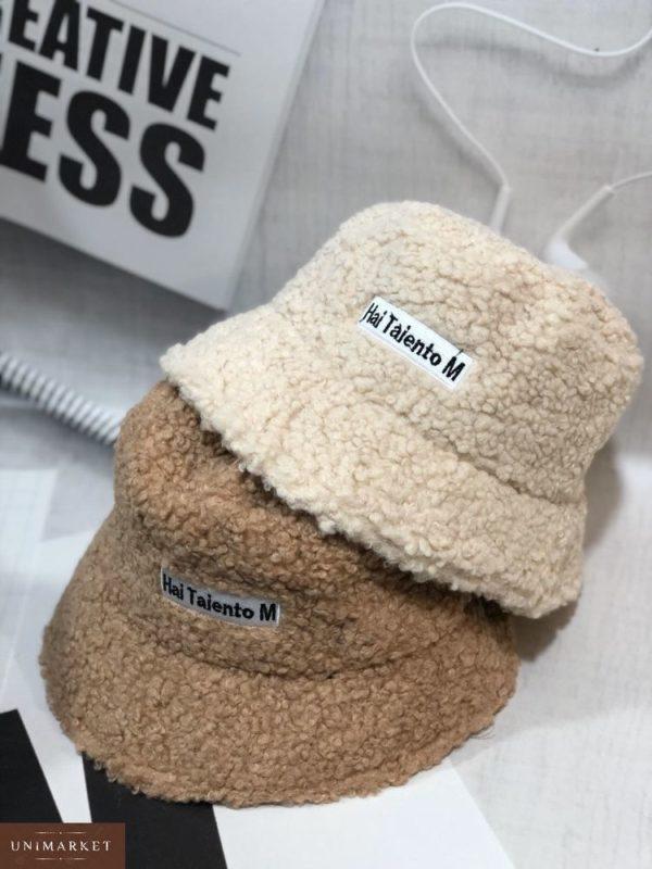 Купить недорого женскую зимнюю панаму шляпу hai taiento m из каракуля коричневого цвета в подарок