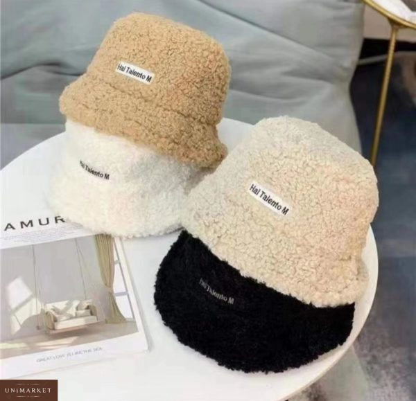 Заказать в подарок женскую зимнюю шляпу панаму из каракуля hai taiento m черного цвета оптом Украина