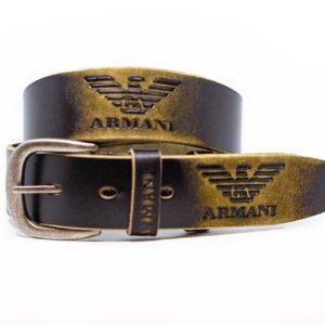 купить черный ремень Armani из кожи для джинс дешево мужской и женский