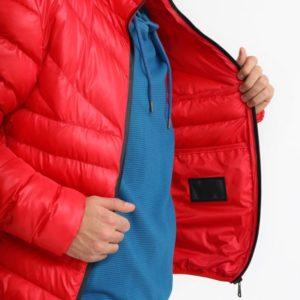 Купить в интернет-магазине мужскую куртку дутик из пуха био цвета красного больших размеров дешево