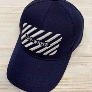 Заказать в подарок кепку женскую off-white темно-синего цвета дешево