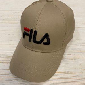 Заказать в подарок кепку женскую FILA бежевого цвета дешево