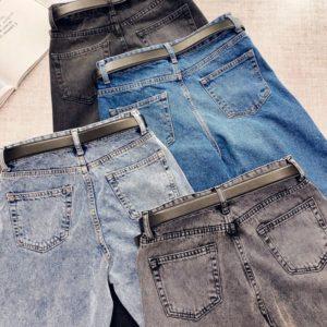 Приобрести в интернет-магазине женские джинсы мом с поясом в комплекте с высокой талией дешево