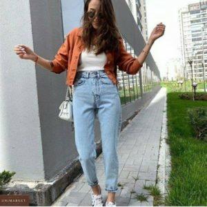 Заказать онлайн женские светлые джинсы Mom в Украине