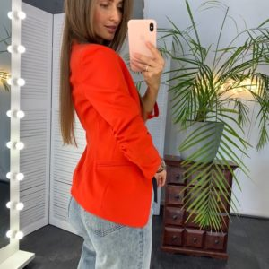 Заказать онлайн женский пиджак на качественной подкладке с карманами красный в Днепре, Харькове