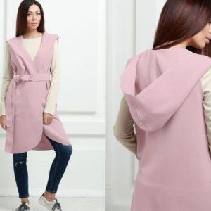 Заказать в интернет-магазине женский розовый кашемировый кардиган с капюшоном онлайн
