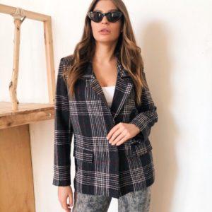 Заказать женский серый пиджак с подкладкой на кнопках по доступным ценам