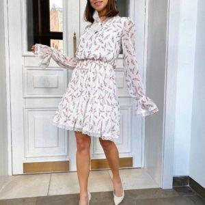 Приобрести женское платье из шифона белое недорого