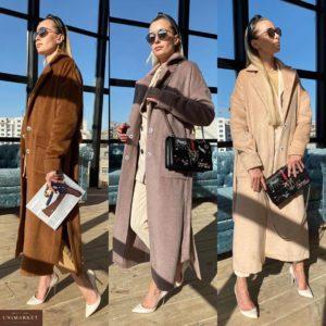 Заказать онлайн женское облегченное пальто без подкладки цвета нюд, корицы, лиловый в Украине