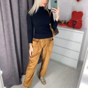 Заказать недорого женские брюки с карманами коричневого вельветовые цвета оптом Украина