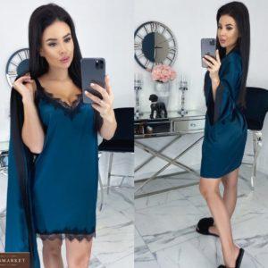 Заказать женский комплект халат+пеньюар с кружевом дешево в Украине