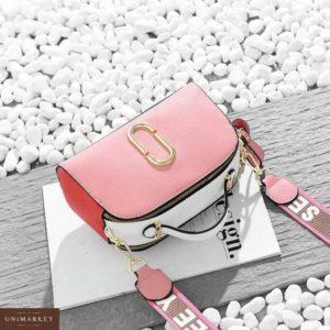 Заказать в подарок женская сумка из эко-кожи джейкобс марк розовая дешево
