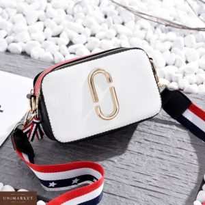 Заказать недорого женская сумка Jacobs Marc цвета белого оптом Украина