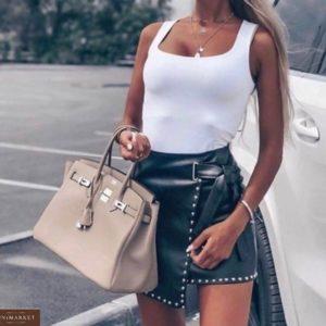 Приобрести женскую черную юбку на запах дешево в Одессе, Киеве, Львове