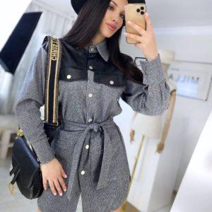 Заказать серое универсальное платье-рубашку 3 в 1 в Харькове, Одессе