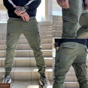 Приобрести хаки мужские джоггеры с накладными карманами (размер 29-38) по специальным предложениям