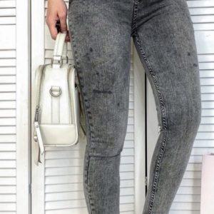Купить онлайн женские темно-серые джинсы американка с завышенной талией по низким ценам